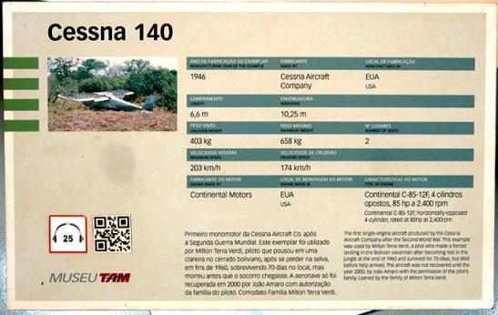 Museu TAM Milton Verdi Cessna 140 (02)