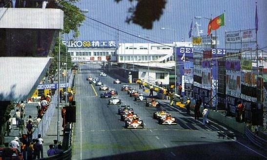 Grid de largada do Grande Prémio de Macau de F3 em 1983 (foto Revista Nam Van)