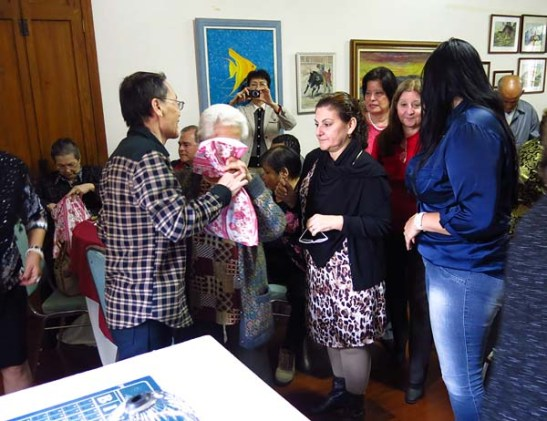 As mães foram presenteadas por Frederico António