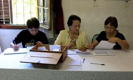 A mesa que fez a contagem dos votos