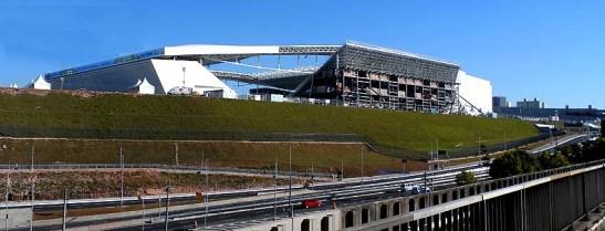 Estádio Itaquera-Corinthians vulgo Itaquerão, em São Paulo no bairro de Itaquera na Zona Leste, onde será realizada a abertura da Copa do Mundo 2014