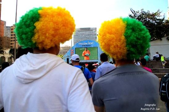 O telão do Fifa Fan Fest do centro de São Paulo
