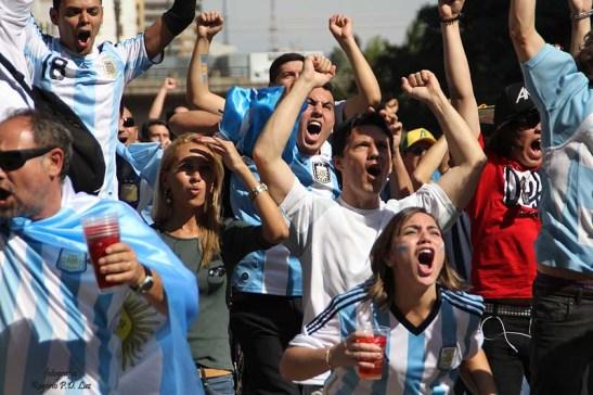 gooooooool da Argentina: 1x0, logo no começo do jogo