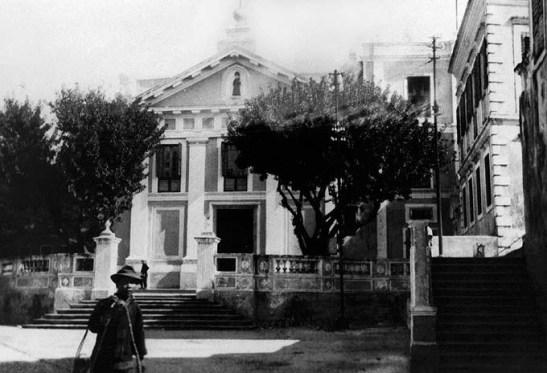A Igreja em 1920 (foto do livro Álbum Macau 1844-1974)