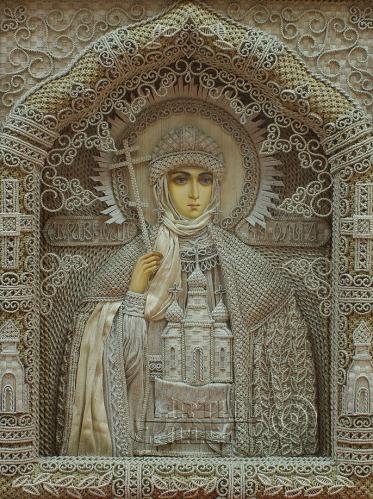 Vladimir Denshchikov artista ucraniano tela em nó linho (01)