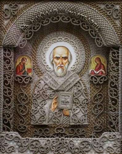Vladimir Denshchikov artista ucraniano tela em nó linho (04)