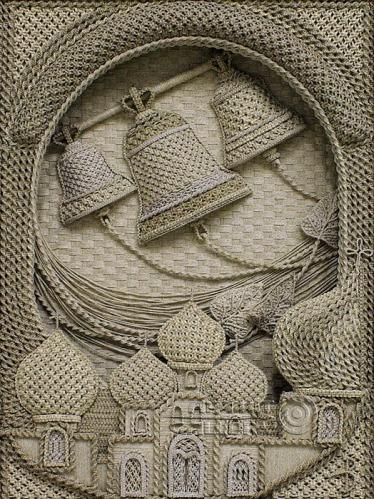 Vladimir Denshchikov artista ucraniano tela em nó linho (07)