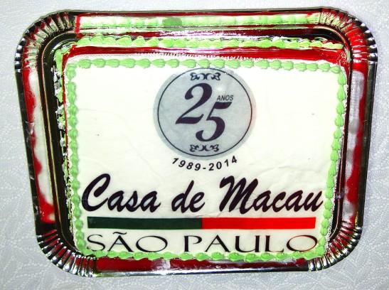 O bolo das Bodas de Prata