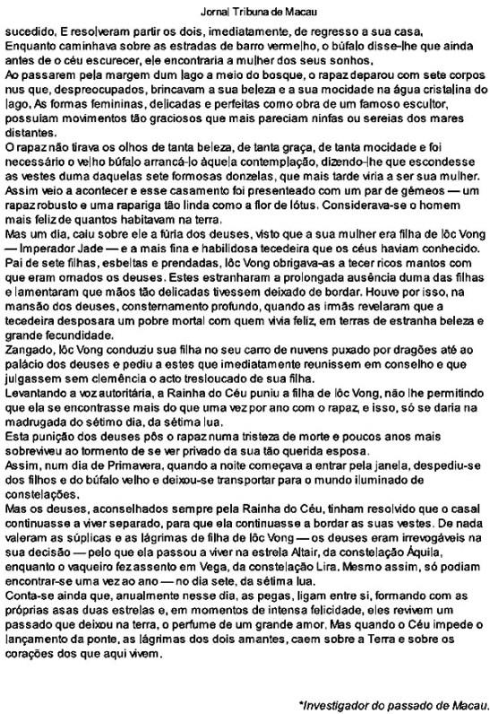 Jornal Tribuna de Macau - 15/03/2009 - texto de Leonel Barros