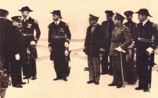 Recepção em Macau ao almirante Shiozawa, chefe da Esquadra japonesa no Sul da China