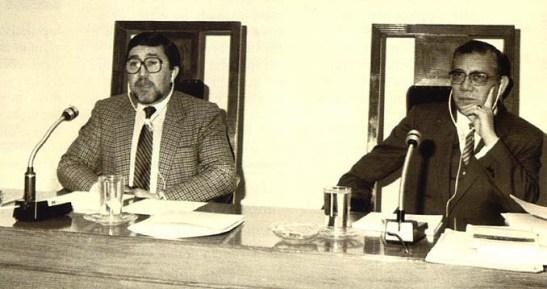 Governador de Macau Almeida e Costa e Carlos Assumpção: um relacionamento conflituoso que ficará nos anais da Assembleia Legislativa de Macau (texto e imagem da Revista Macau)