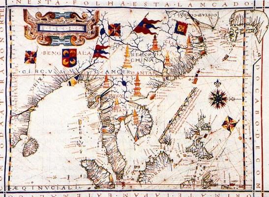 Carta da Ásia Oriental de Fernão Vaz Dourada (1571)
