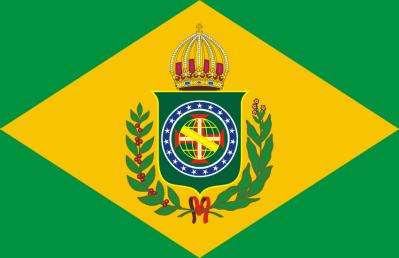Bandeira do Império do Brasil durante o Primeiro Reinado