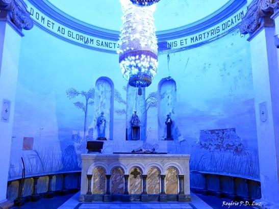 O interior da capela, hoje