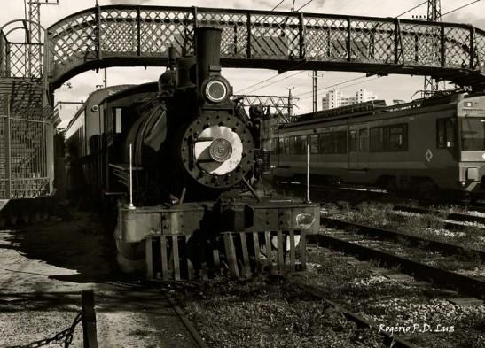 O Maria Fumaça circula ao lado dos trens da Rede Ferroviária