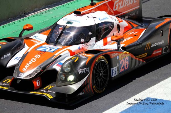 Na categoria LMP2 esta Ligier JS P2 Nissan foi a 1ª classificada