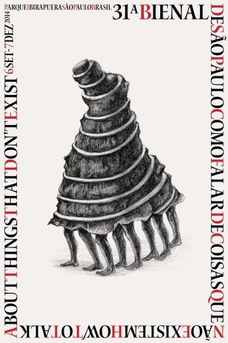 O cartaz da mostra foi criado pelo artista indiano Prabhakar Pachpute e apresenta uma torre movida à força humana enquadrada por uma tipografia que remete à produção manual.(Wikipedia)