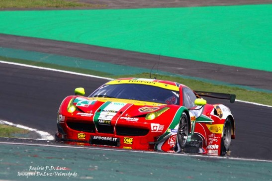 A Ferrari 458 Italia melhor classificada, em 3º, pilotado por Davide Rigon, James Calado (AF Corse-Ferrari/LMGTE-Pro)