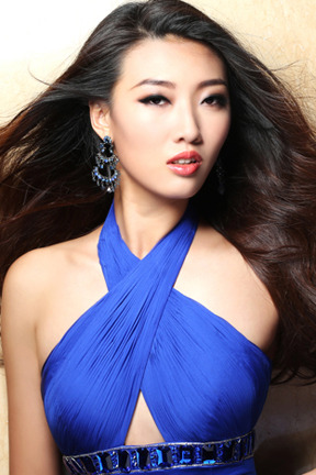A representante da China (foto do site oficial de Miss Universe)