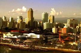 zona portuária da cidade de Santos