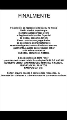 Comunicado em português