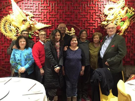 A reunião para instalação da UK Macau House ocorrida em restaurante chinês