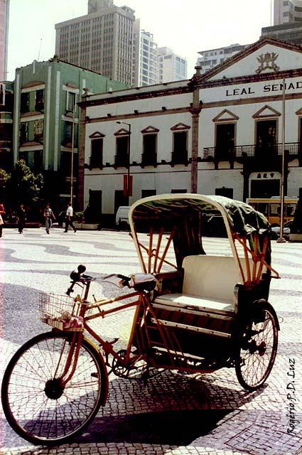 O prédio do 'Leal Senado' antes da transição de soberania de Macau para a China.