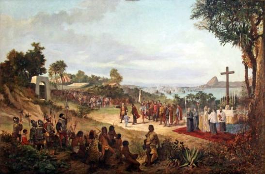 Às margens da baía da Guanabara, os portugueses instalaram sua cidadela