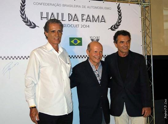 Homenageados no Hall da Fama: Alfredo Guaraná Menezes, Alex Dias Ribeiro e Raul Boesel