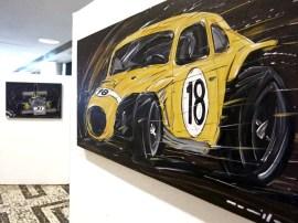 Exposição de várias pinturas de carros de corrida do artista Roberto Muccillo Torino: www.artesmuccillo.com