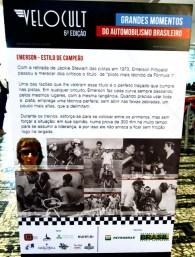 Vários painéis contam a história do projeto de F1 dos Fittipaldis