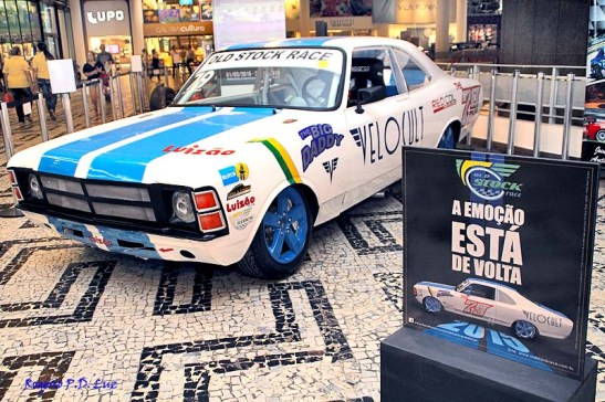 O carro do promotor do evento Paulo Soláriz que irá disputar a nova categoria Old Stock Race com Opalas dos anos 70 restaurados
