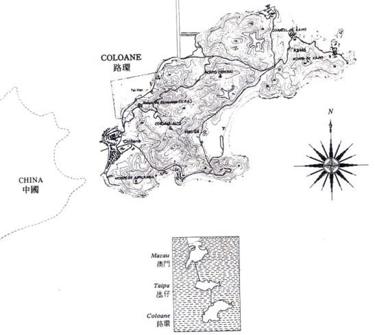 Macau Colocane mapa 4