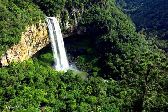 Cascata de Caracol, no Parque do Caracol, em Canela