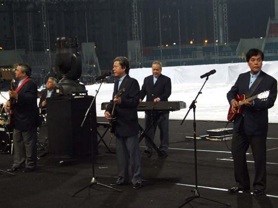 Apresentação na cerimonia de abertura dos 1ºs. Jogos da Lusofonia em Macau