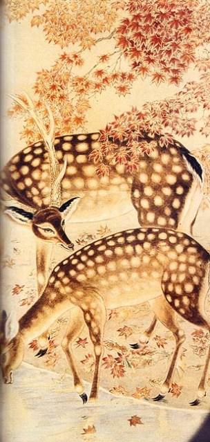 Chiang Kam Seong (1899-1959). Casal de corças no Outono, 1949 (Revista Macau)