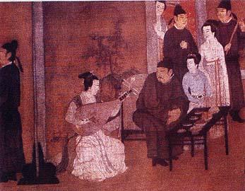 Pintura de Gu Hongzhong (imagem do livro - Na Afirmação de uma Identidade)