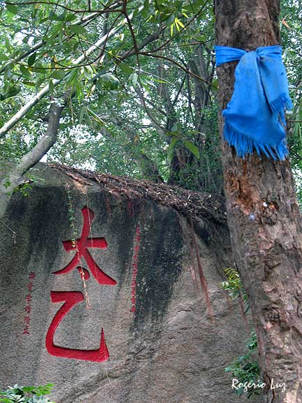 os caracteres T'ai Ut significam 'causa primordial', frase sagrada do tauísmo.