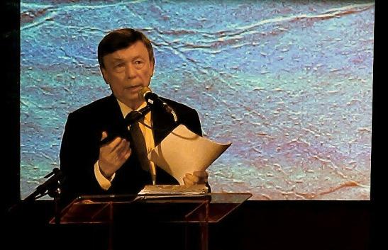 Jorge Rangel, presidente doIM Instituto Internacional de Macau na sua palestra: Língua e Cultura no Extremo Oriente, um Legado Valorizado