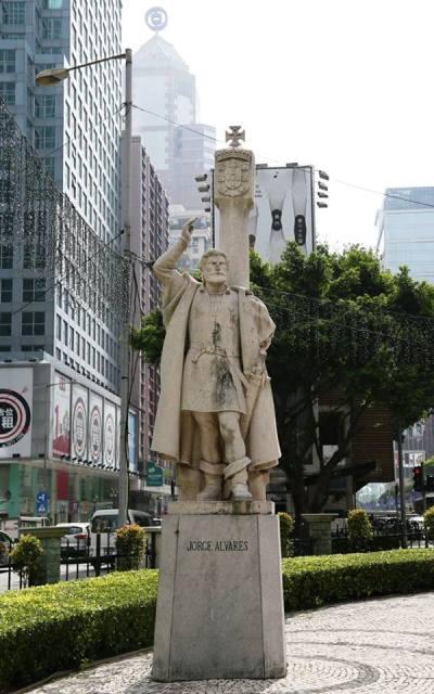 Estátua de Jorge Álvares em Macau