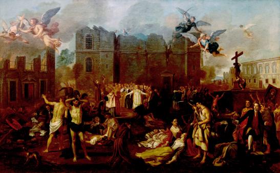 Alegoria ao terramoto de 1755 (Wikimedia Commons)