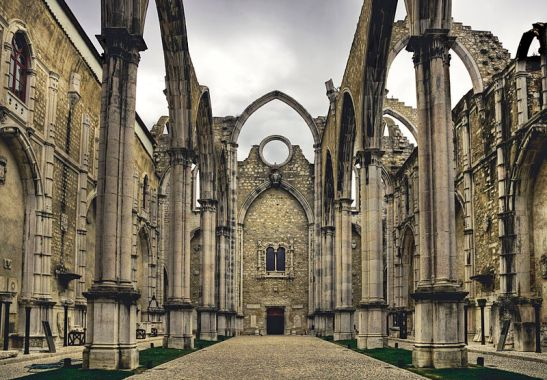 Ruínas do Convento do Carmo, Lisboa (Wikimedia Commons)