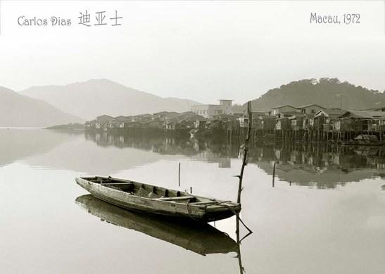 Carlos Dias fotografia antiga de Macau Doca Lamau um Barquito