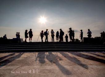 China: Grupo de fotoógrafos em excursão fotográfica. A band of photographers. 惠東 Huidong,