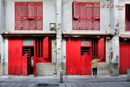 Macau: 福隆新街 Um detalhe da vida quotidiana na Rua da Felicidade.