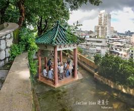 Macau: coreto no Jardim de Camões