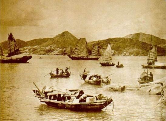 1874年簸箕灣漁港Shaukiwan fishing harbour/porto pesqueiro
