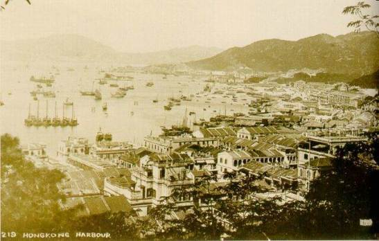 1924年從堅尼地道看灣仔,銅鑼灣及北角Wanchai, Causeway Bay and North Point viewed from/visto de Kennedy Road