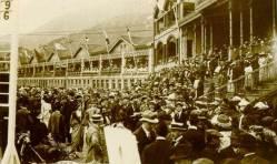 1927年跑馬場看台Happy Valley race course/pista de corrida de cavalos