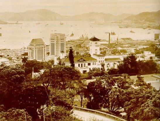 1957年港灣harbour, HSBC, Bank of China and Governor House